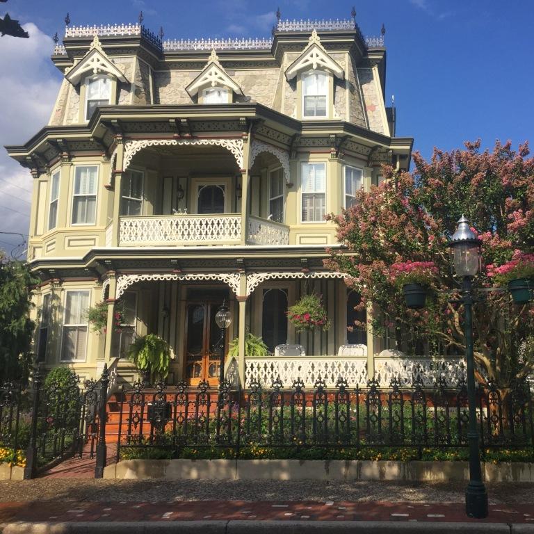 Beautiful cream-colored house